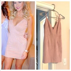 LF pink fitted dress